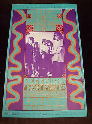 Jefferson Airplane Junior Wells Bill Graham Hollywood Bowl 2Nd Print Poster 1966