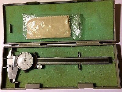RS 609-843 Mitutoyo Dial Vernier Calipers Shock Proof 0.05mm Made in Japan