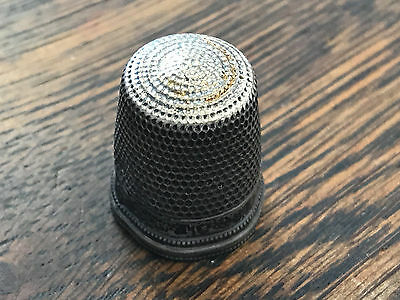 Antique Simons Bros. Sterling Silver Thimble