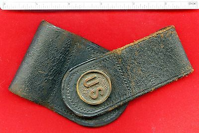 Civil War Musket Conversion Bayonet Leather cover Scabbard with U.S. Medallion