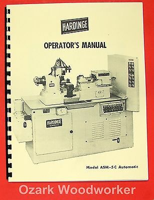 HARDINGE ASM-5C Automatic Lathe Operator's Manual 0330