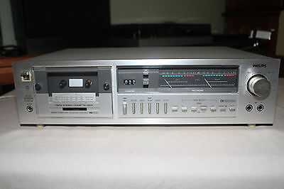 PHILIPS F6212 Stereo Cassette Deck BELGIUM Vintage Working (1981-1982)