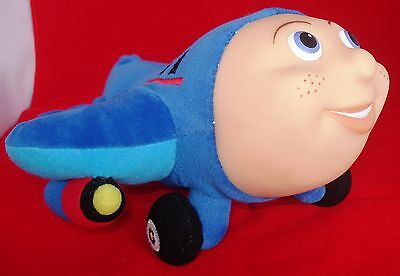 Jay Jay The Jet Plane Plush Toy W/plastic Face And Pocket For Finger Puppet