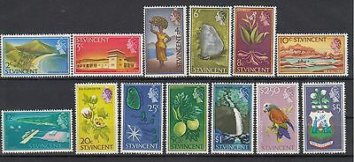 St.Vincent:1965 Definitives set of 13 stamps.SG232/45.(Missing the 5c).MUH/MNH