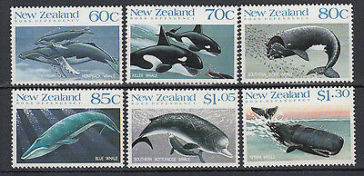 New Zealand 1988 Whalesset 6 stamps.SG 1491/1496.MUH/MNH.Going cheap