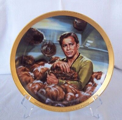 """Star Trek Plate """"The Commemorative Collection"""" The Trouble With Tribbles"""