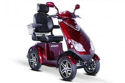 EW 72 R 4 -Wheel Scooter 500lb Capacity, Red