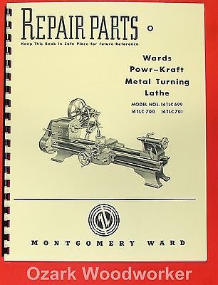 MONTGOMERY WARDS Powr-Kraft Metal Lathe Part Manual 0477
