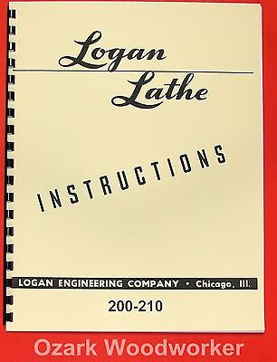 LOGAN 200 210 Metal Lathe Instructions Manual 0457