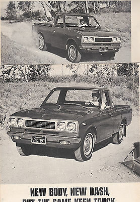 1973 Toyota Hi-Lux Pickup, Detailed USA Car Magazine Road Test Report