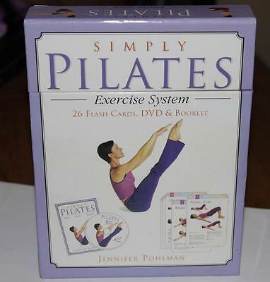 Excercise System *SIMPLY PILATES*   26 Flash Cards~DVD~Booklet  Great condition!