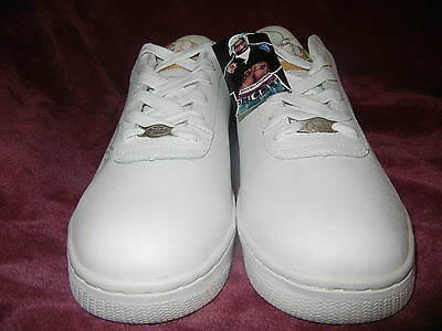 2PAC Makaveli 2PACALYPSE size 10 sneakers SHOES Tupac Wisdom NIB White Blk Gold