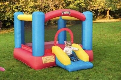 Bouncy Castle With Slide Kids Outdoor Play Jumping Inflatable Activity Fun