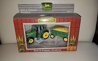 John Deere Salt and Pepper Shakers Enesco 480320 1998 NEW in Box