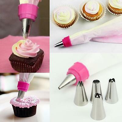 1 Piping Bag,Icing Pastry Bag,Cake decorating kit,Cupcake Tools with 5 nozzles