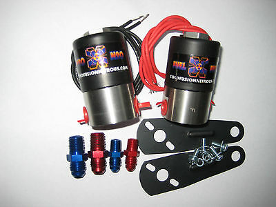 Nos/nx/zex/ford/chevy/dodge/holley/ Cold Fusion Nitrous+Fuel Solenoid Kit 400Hp!