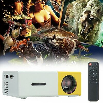 YG-300 LCD Mini Support 1080P Portable LED Projector Home Theater Cinema AU