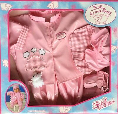 Zapf Baby Annabell Doll's Outfit Rain Set New