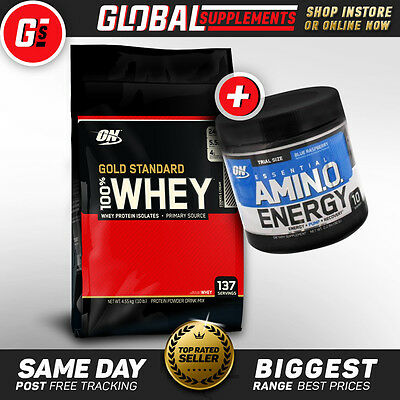 GOLD STANDARD 100% WHEY PROTEIN POWDER by OPTIMUM NUTRITION (4.5KG / 10LBS)