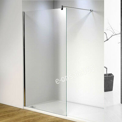 8mm Glass Wet Room Enclosure Screen Panel Walk In Shower Screen Frameless Corner