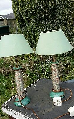 2 Jersey pottery lamps