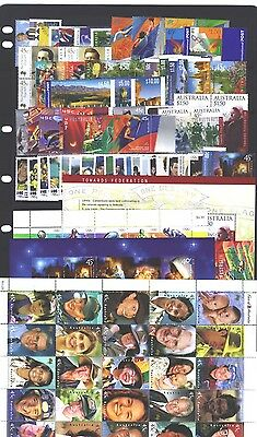 2000 year collection.of 77 stamps plus 5 x miniature sheets. MNH and cheap