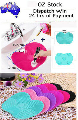 Mini Makeup Brush Cleaner Pad Washing Scrubber Board Cleaning Mat Hand Tool