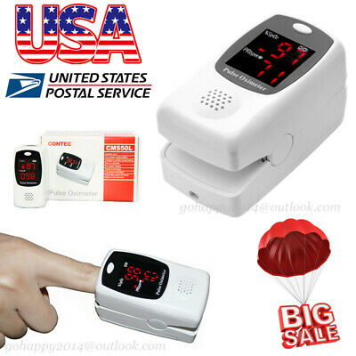 Talking Finger Tip Pulse Oximeter SPO2 PR Blood Oxygen Heart Rate Monitor+ Pouch