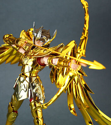 S Temple Metal Club Model Saint Seiya Sagittarius Aiolos Myth Cloth Gold Ex TOY