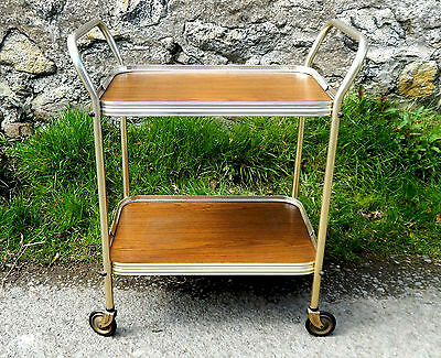 Vintage Retro 1950s Hostess Serving Tea Trolley Two Tier - Mid Century  #5