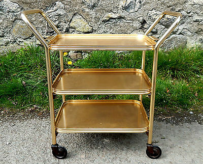Vintage Retro 1950s Hostess Serving Tea Trolley - Three Tier - Mid Century  #1