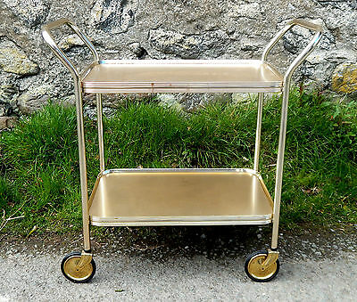 Vintage Retro 1950s Hostess Serving Tea Trolley Two Tier - Mid Century  #3