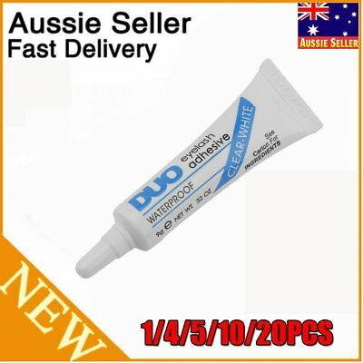 10PCS DUO Waterproof Clear White False Eyelashes Makeup Adhesive Eye Lash Glue