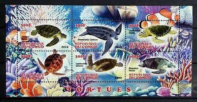 Bloc feuillet neuf ** MNH - Congo 2012 - Tortues marines Sea Turtles