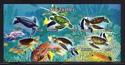 Bloc feuillet neuf ** MNH Non dentelé -Malawi 2012 - Tortues marines Sea Turtles