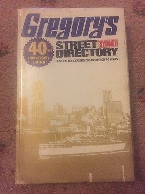 VINTAGE 40th Anniversary EDITION, GREGORY'S SYDNEY STREET DIRECTORY 1975