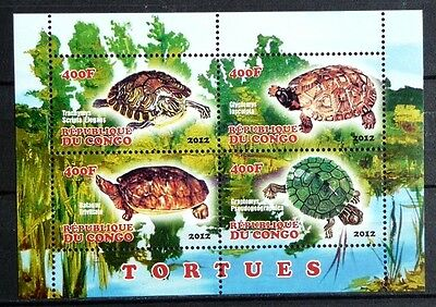 Bloc feuillet Neuf ** MNH - Congo 2012 - Tortues Turtles