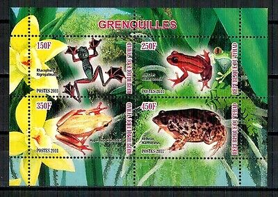 GR3 - Bloc feuillet Neuf ** MNH - Tchad 2011 - Grenouilles Frogs