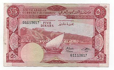 Yemen Democratic Republic 5 Dinars 1965 Pick 4 B Look Scans