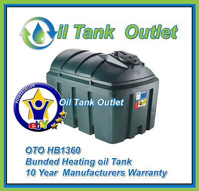 OTO Bunded Heating Oil Storage Tank  ~1360ltrs Horizontal