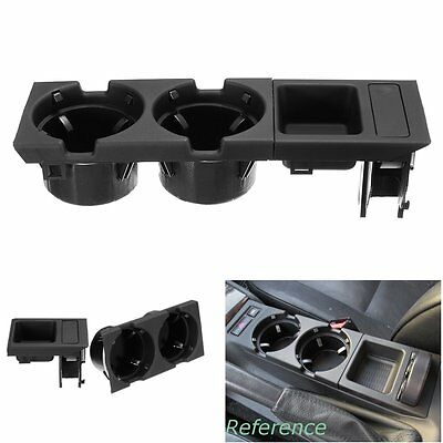 Car Center Console Storage Box Coin & Cup Holder For BMW E46 3SERIES 99-06 Black