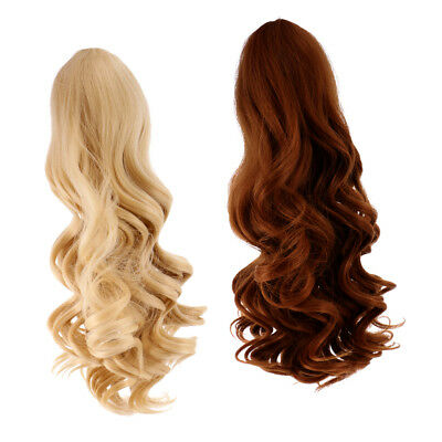 MagiDeal 2pc Deep Curly Wig Heat Safe Hair for 18'' American Girl Doll #8+#9