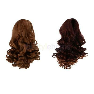 MagiDeal 2pcs Heat Resistant Wavy Curly Hair Wig for 18'' American Girl Doll