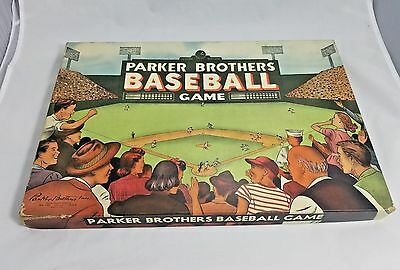 Vintage Parker Brothers Baseball Board Game Rare 1950s Collectible Sports