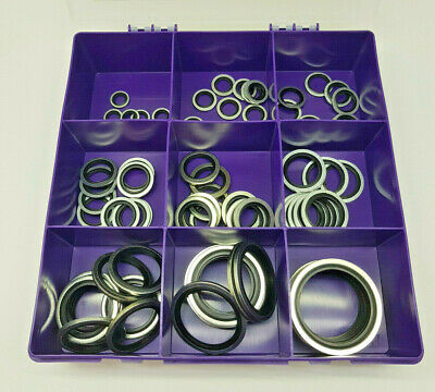 90 Pce IMPERIAL BSP DOWTY BONDED SEAL/WASHER KIT SELF CENTERING 1/8 to 1.1/2