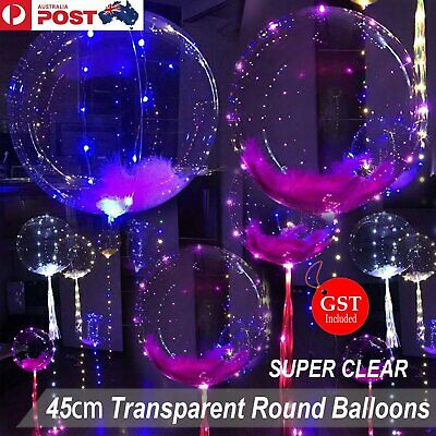 10x Super Transparent Bubble Balloon Jumbo Clear Helium Gas Latex Party Wedding