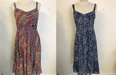 Ex Marks and Spencer Per Una Floral Print Short Sleeve Midi Dress Size 12-22
