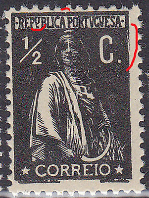 Portugal 1912 1/2C ceres stamp Clihe II ( catalogued at 1928 one)MNHOG no faults