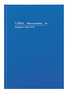 Collins 2018 Kingsgrove Diary A4 Week to View Opening 341.P59-18 Hardcover BLUE