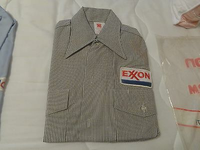 VINTAGE EXXON  GAS STATION UNIFORM SHIIRT  14-14 1/2 shirt
